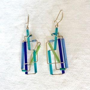 "14k Gold ""Barb Levy"" designed Earrings"